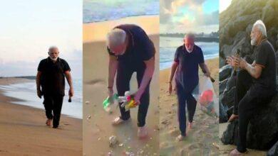Photo of PM Modi cleans Mamallapuram beach in Chennai