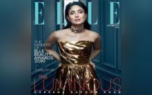 Kareena Kapoor shimmers in strapless golden ensemble