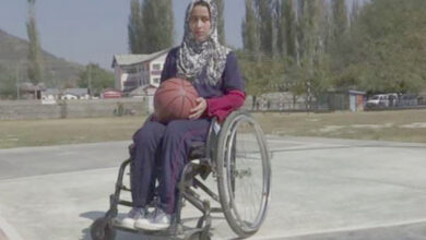 Photo of First female Kashmiri specially-abled Int. basketball player