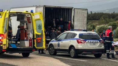 Photo of Greece: 41 migrants found alive in refrigerated truck