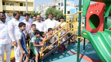 Photo of Hyderabad: Mayor inaugurates Children's Park in Gachibowli