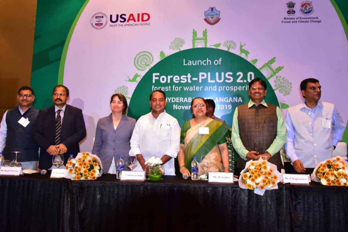 """""""Forest-PLUS 2.0"""" program of USAID, MoEFCC launched in Telangana"""
