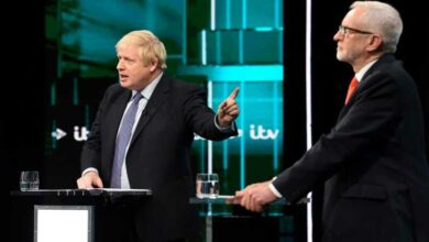 Photo of Johnson and Corbyn spar over Brexit in first election debate