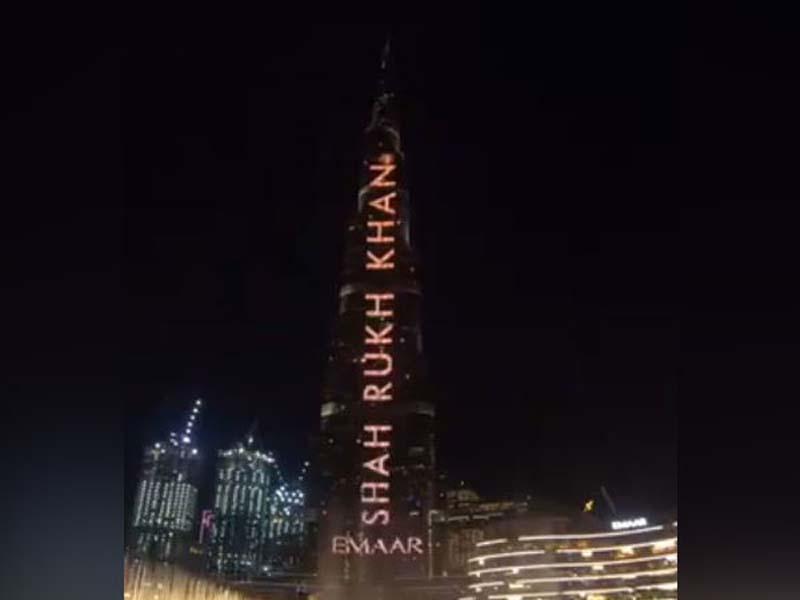 Burj Khalifa lit up with SRK's name on his 54th birthday