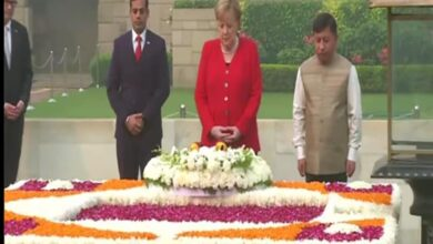 Photo of German Chancellor pays floral tribute to Mahatma Gandhi