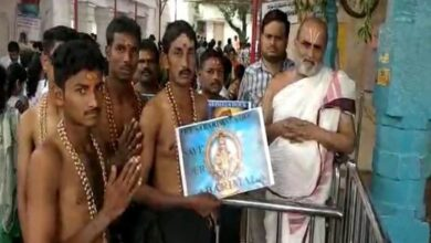 Photo of Chilkur Balaji devotees celebrate decision on Sabarimala review