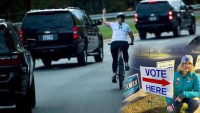 Photo of Cyclist who flipped off US President wins local election