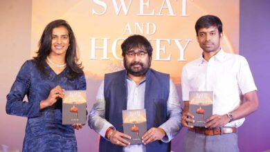 """Photo of P V Sindhu launches a book titled """"Blood, Sweat and Honey"""""""