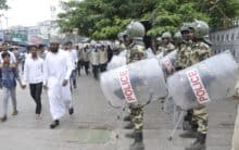 Heavy police bandobast at Makkah Masjid, Hyderabad