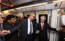 Japanese envoy to India takes ride on Delhi Metro