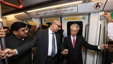 Photo of Japanese envoy to India takes ride on Delhi Metro
