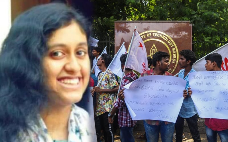 IIT-M suicide: Students protest, seek justice for Fatima Lateef - The Siasat Daily
