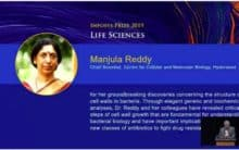 CCMB Scientist Manjula Reddy wins Infosys Prize in Life Sciences