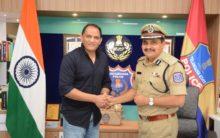 Azharuddin meets CP Rachakonda Mahesh Bhagwat