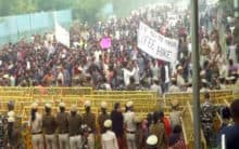 Delhi: JNUSU carries out protest march against fee hike