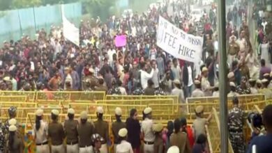 Photo of Delhi: JNUSU carries out protest march against fee hike