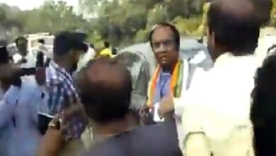 Photo of WB BJP VP allegedly manhandled, kicked by TMC workers