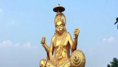 Photo of Hanuman's 72 feet high octa-metal statue built in Indore