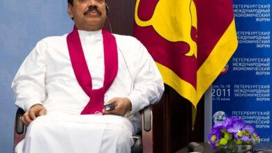 Photo of Mahinda Rajapaksa sworn in as Sri Lanka PM