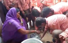 1 litre milk diluted in 1 bucket water served in mid-day meal