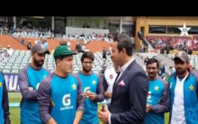 Adelaide Test: Musa Khan receives debut Test cap from Akram