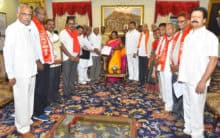 Opposition leaders meet TS Governor over RTC strike