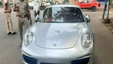Photo of Porsche seized without valid documents, Owner fined Rs 9.8 lakh