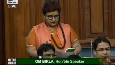 Photo of Pragya tenders conditional apology in LS for her Godse remarks
