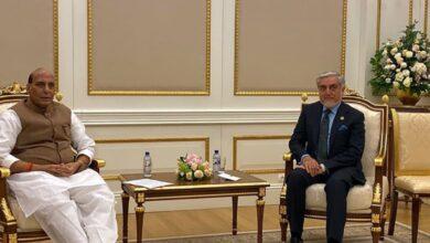 Photo of Rajnath Singh meets Afghan Chief Executive in Tashkent