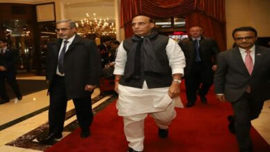 Photo of Rajnath Singh arrives in Moscow
