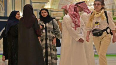 "Photo of At Saudi's ""Davos in desert', foreign women avoid abayas"