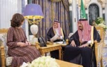 King Salman hosts CIA chief after Twitter charges