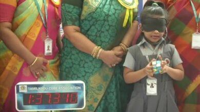 Photo of 'Youngest genius': 6YO Sarah solves Rubik's cube blindfolded