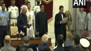 Photo of Sharad Arvind Bobde sworn-in as 47th Chief Justice of India