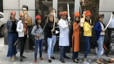 Video of reporters of Sudarshan News with swords goes viral