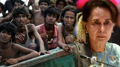 Photo of Suu Kyi to face first legal action over Rohingya genocide