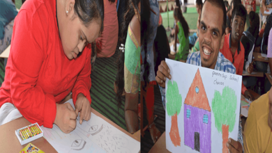 "Photo of 'Taare Zameen Par' painting competition for ""Divyang"" held"