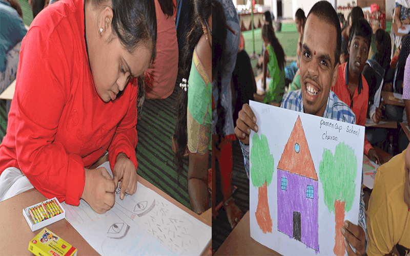 """'Taare Zameen Par' painting competition for """"Divyang"""" held"""