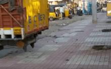 Illegal parking infront of Kishan Bagh Park