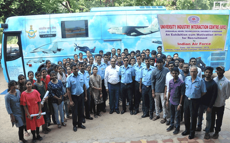 Air Force publicity exhibition drive vehicle reaches Hyderabad