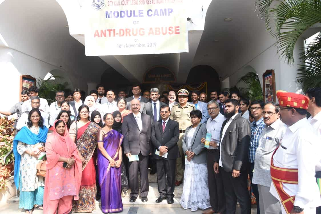 Hyderabad City Civil Court holds Anti-Drug Abuse awareness camp