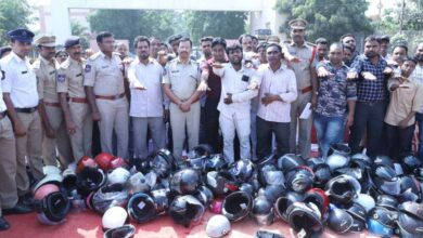 Photo of Hyderabad: Drive launched against use, sale of non-ISI helmet