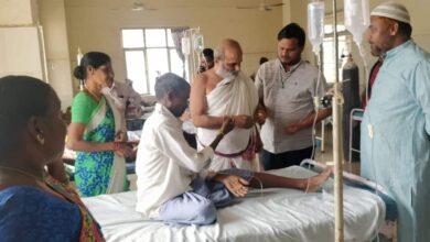 Photo of Chilkur Balaji temple's head priest visits MNJ Hospital