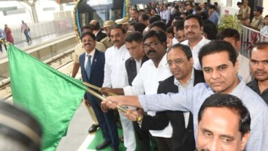 Photo of KTR flags off new metro rail services in Hyderabad