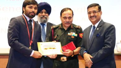 Photo of Maj Gen RK Singh addresses Army Symposium at HRD institute