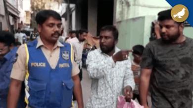 Photo of A Man creates panic in Syed Nagar, Held by Banjara Hills Police