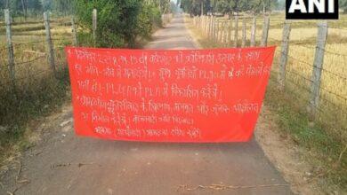Photo of Naxals block roads in Gadchiroli ahead of PLGA week