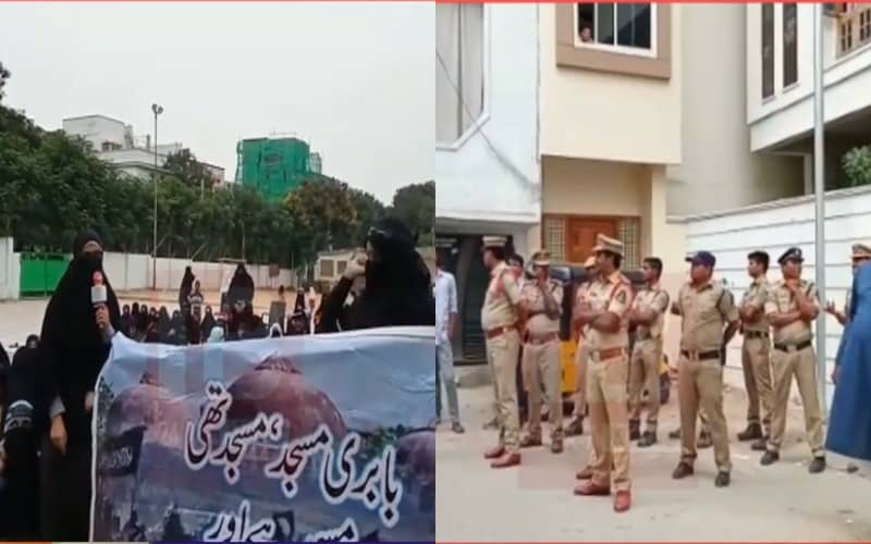 Hyderabad: Tension prevailed at Saidabad's Ujale Shah Eidgah