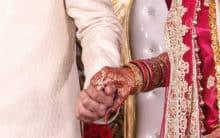 Interfaith couple who married secretly reunite