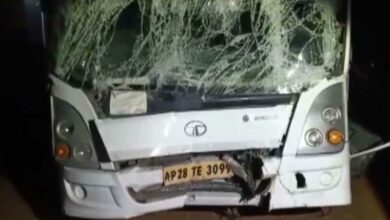 Photo of Telangana: 12 injured after bus rams into lorry in Hyderabad